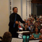 David in action on the second night of Noye's Fludde